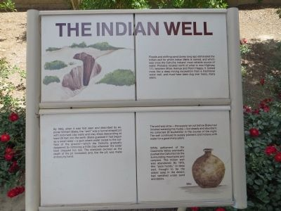 Sign near marker about the history of Indian Wells image. Click for full size.