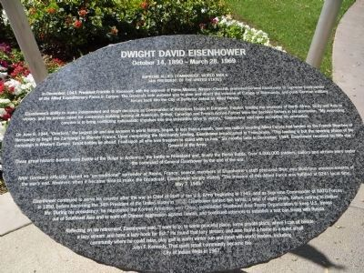 Dwight David Eisenhower Marker, Second Part image. Click for full size.