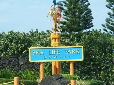 Sea Life Park sign image. Click for full size.