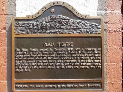 Plaza Theatre Marker image. Click for full size.
