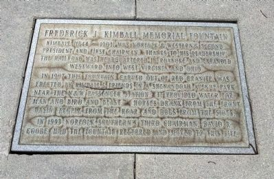 Frederick J. Kimball Memorial Fountain Marker image. Click for full size.