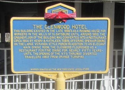 The Glenwood Hotel Marker image. Click for full size.