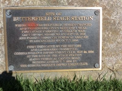 Site of Butterfield Stage Station Marker image. Click for full size.