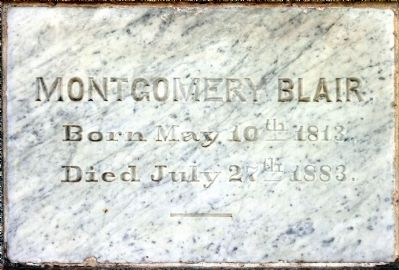 Montgomery Blair<br>Born May 10th 1813<br>Died July 27th 1883 image. Click for full size.