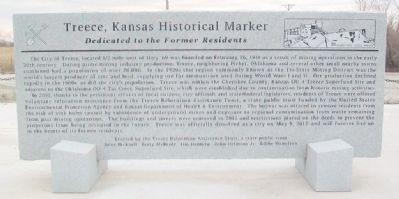 Treece, Kansas Historical Marker Marker image. Click for full size.