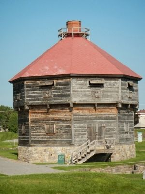 Coteau-du-lac blockhouse image. Click for full size.