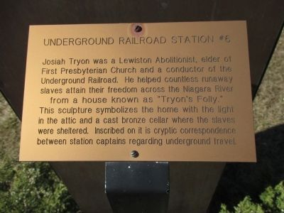 Underground Railroad Station #6 Marker image. Click for full size.