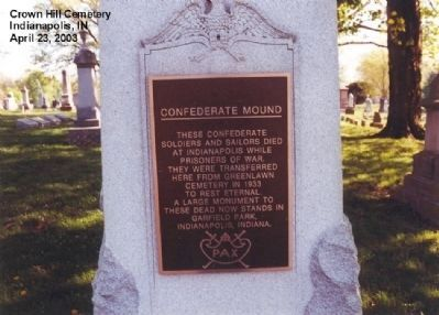 Confederate Mound Marker image. Click for full size.