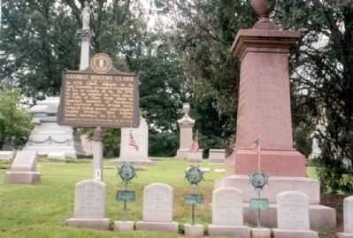 George Rogers Clark Marker and grave image. Click for full size.