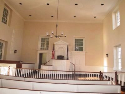 Interior of the 1800 courthouse image. Click for full size.