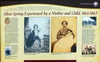 Silver Spring Experienced by a Mother and Child, 1861-1865 Marker image. Click for full size.