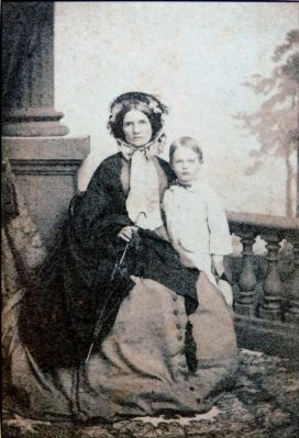 Elizabeth Blair Lee and son, Blair Lee age 4, 1861 image. Click for full size.