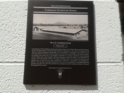 Carmichael Elementary School Marker image. Click for full size.