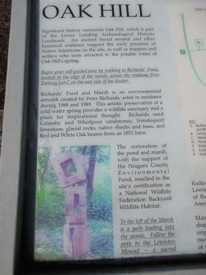 Oak Hill Marker - Left Detail image. Click for full size.