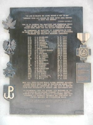 Canadian Airmen Lost Over Poland Marker image. Click for full size.