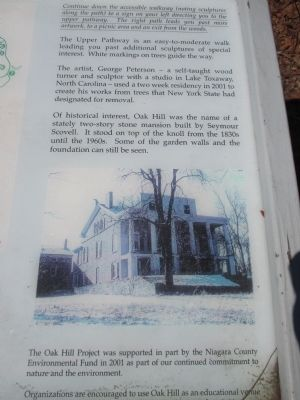 Oak Hill Marker - Right Detail image. Click for full size.