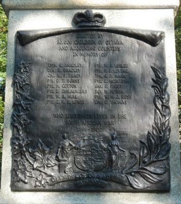 South African (Boer) War Memorial Marker image. Click for full size.