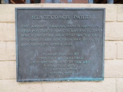 Stagecoach Park Marker image. Click for full size.