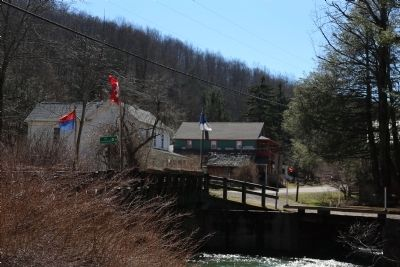 Bridge over the Upper Trout Run in Helvetia, West Virginia image. Click for full size.