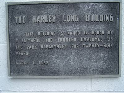 The Harley Long Building Marker image. Click for full size.