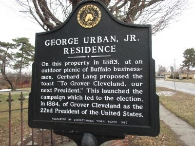 George Urban, Jr. Residence Marker image. Click for full size.