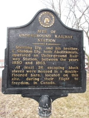 Site of Underground Railway Station Marker image. Click for full size.