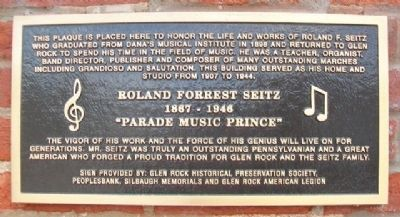 Roland Forrest Seitz Marker image. Click for full size.