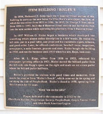 Item Building / Bixler's Marker image. Click for full size.