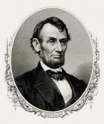 President Abraham Lincoln (1861–65) image. Click for full size.