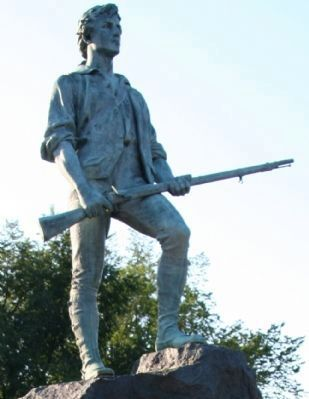 Lexington Minuteman Monument image. Click for full size.