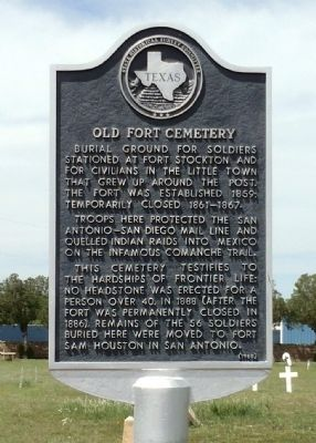 Old Fort Cemetery Marker image. Click for full size.