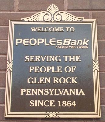 Welcome to PeoplesBank Marker image. Click for full size.