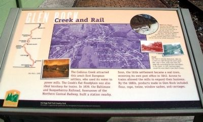 Creek and Rail Marker image. Click for full size.