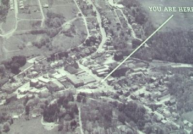 Aerial Photo of Glen Rock on Creek and Rail Marker image. Click for full size.