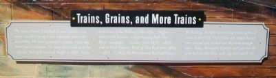 Trains, Grains, and More Trains Marker image. Click for full size.