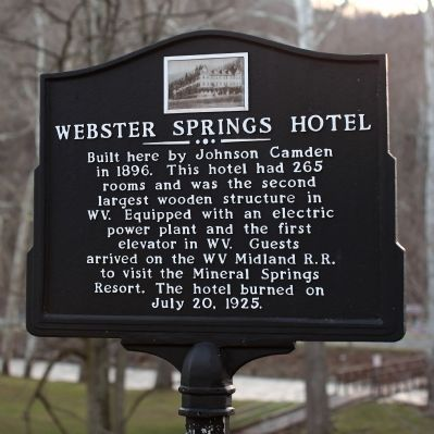 Webster Springs Hotel Marker image. Click for full size.