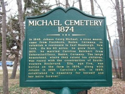 Michael Cemetery Marker image. Click for full size.