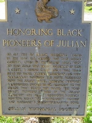 Honoring Black Pioneers of Julian Marker image. Click for full size.