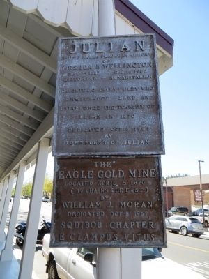 Julian / The Eagle Gold Mine Marker image. Click for full size.