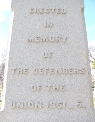 Civil War Memorial Dedication image. Click for full size.