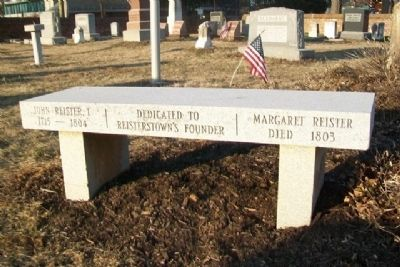 John and Margaret Reister Monument image. Click for full size.