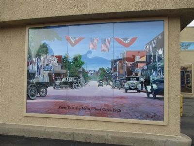 Left Mural - Main Street Village Circa 1926 image. Click for full size.