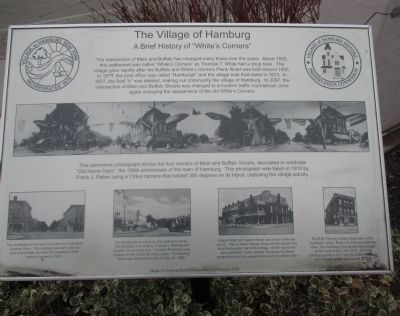 The Village of Hamburg Marker image. Click for full size.