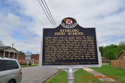 Sterling High School Marker (side 2) image. Click for full size.