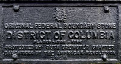 Original Federal Boundary Stone SE 3 Marker image. Click for full size.