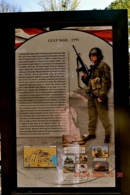 Gulf War-1991/War on Terrorism Marker image. Click for full size.