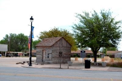 Marker and Reconstructed Blue Gap Post Office image. Click for full size.