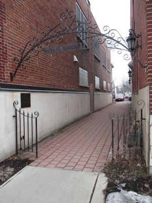 Kronenberg Alley and Marker image. Click for full size.