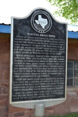 Winters Brass Band Marker image. Click for full size.