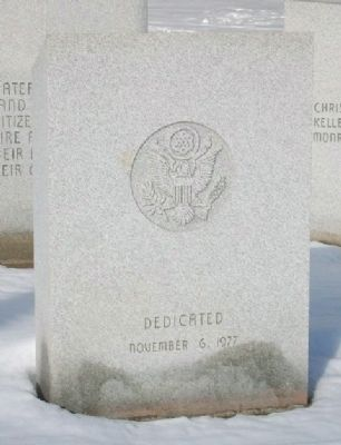 War Memorial Date image. Click for full size.
